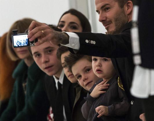 beckhams selfie