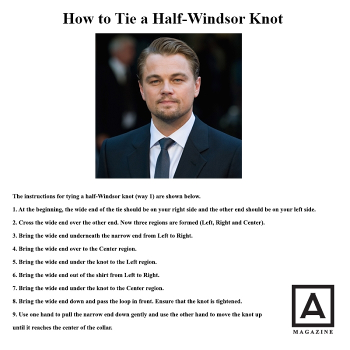 How to tie a half-windsor